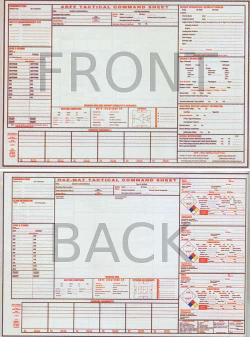General Large 2-sided HazMat/ARFF Command Board