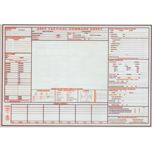 General Laminated ARFF Tactical Command Sheet